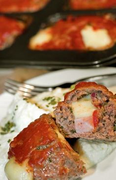 George Stella low carb stuffed meatloaf
