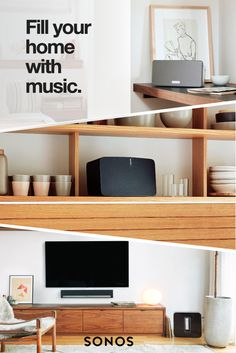 No matter how large your room,Sonosfills the space with pure, brilliant sound. Fill your home with music today.