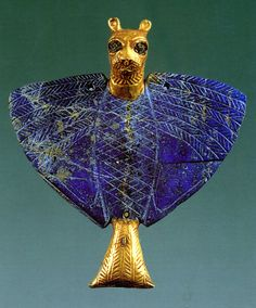 Sumerian Lapis and saphire brooch