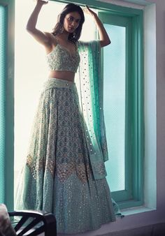 Inaayat : our Mughal printed embellished Lehenga that's perfect for Sanjeet night or a beautiful day wedding. Shot by Anubhav Sood Make… Indian Bridal Outfits, Indian Bridal Lehenga, Indian Designer Outfits, Pakistani Bridal, Punjabi Wedding, Designer Gowns, Indian Gowns Dresses, Pakistani Dresses, Indian Wedding Dresses
