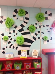 My leader in me tree with the 7 habits- use brown, less crazy branches, tissue poms, 7 habits in frames
