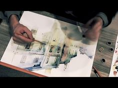 Watercolor techniques step by step wash process - YouTube