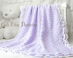 PDF PATTERN of how to make the Iris Baby Blanket. NOT A PHYSICAL BLANKET FOR SALE. ♥ Crochet pattern for the delicate and adorable baby blanket Iris featuring 3-layer edging. It will be a hit as a baby shower gift for new moms, or an heirloom within the family. ♥ Pattern provided makes a blanket approximately 33.5 x 33.5 inches, crocheted with specified yarn and gauge. ♥ Use any DK weight yarn. ♥ This pattern is written in standard US TERMS and includes helpful photos. ♥ Skill level - Int...