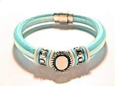 Leather Bracelet, Regaliz Greek licorice leather,PICK YOUR SIZE   egrobeck - Jewelry on ArtFire