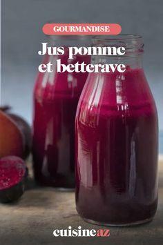 Ce jus pomme et betterave est une boisson à préparer pour un brunch. #recette#cuisine #jus #jusdefruit #pommebetterave Ketchup, Brunch, Bottle, Food, Drink, Apple, Kitchens, Food Porn, Flask