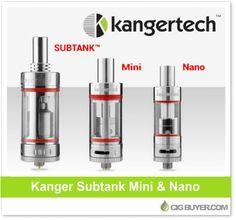 Kanger Subtank Nano & Subtank Mini – $26.99 / $33.29: http://www.cigbuyer.com/kanger-subtank-mini-nano-tank/ #subohm #vaping #subtank #subtankmini #subtanknano #vapedeals