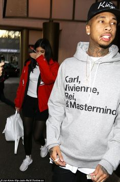 Dinner date! Kylie was spotted grabbing dinner with her beau Tyga in Beverly Hills earlier on Wednesday