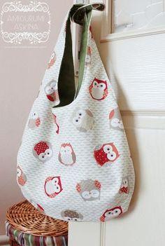 Un cartamodello gratuito da scaricare per fare una borsa, semplice in stoffa.