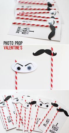 Photo Prop Cards | 40 Unconventional DIY Valentine's Day Cards