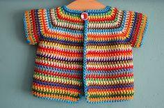 Op algemene aanvraag : het haakpatroontje van het babyvestje!!!   On request : the crochet pattern of the baby-cardigan!!! (for the English ...