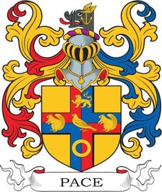 Pace Coat of Arms Meanings and Family Crest Artwork