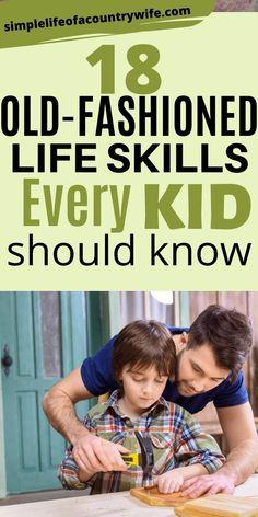 Life Skills Kids, Life Lessons, Kids And Parenting, Parenting Hacks, Teaching Kids, Kids Learning, Survival Skills, Survival Gear, Raising Kids