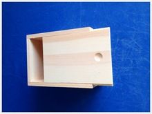 2015 latest design top grade handmade unfinished wooden box with sliding lid