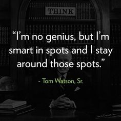 """Tom Watson was the chairman and CEO of IBM. He began his career as a piano salesman, and eventually joined IBM and grew it into a powerhouse. IBM owned and leased to its customers more than 90 percent of all computing machines in the United States at one point. IBM was instrumental in the American war effort in WWII. He imposed the """"1% doctrine"""" on IBM, requiring that IBM make no more than 1% profit from the sales of military equipment to U.S. Government."""