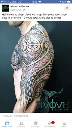 Samoan tattoo #samoantattoosmale #samoantattoosshoulder
