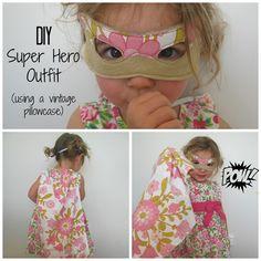 DIY Girls Super hero outfit