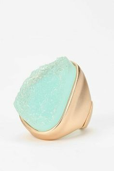 Urban Outfitters  Sea Foam Crystal Ring