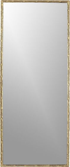 tork brass rectangular dripping mirror  | CB2