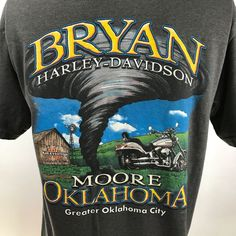 32458bc2 Harley Davidson Shirt Large Gray Bryan Harley Davidson Moore Oklahoma USA  Made #HarleyDavidson #TShirt