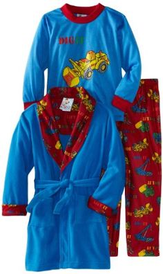 Amazon.com: Baby Bunz Boys 2-7 Dig It 3 Piece Robe And Pajama Set: Clothing