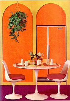 Orange fridge...ya gotta love it!