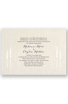 Nature of Love Wedding Invitation by David's Bridal