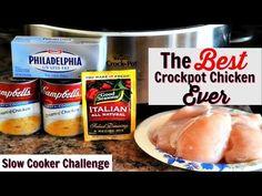 Best Crockpot Chicken, Best Chicken Recipes, New Recipes, Snack Recipes, Favorite Recipes, Chilli Recipes, Chicken Meals, Crock Pot Slow Cooker, Crock Pot Cooking