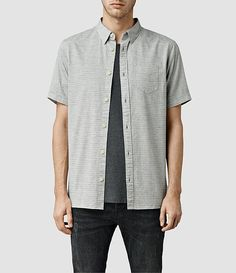 Men's Poyntelle Short Sleeve Shirt (Grey Marl) -