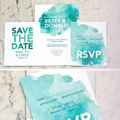 Waterlily - Invitation Suite by One and Only Stationery
