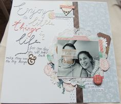My first time trying stitching on a layout - it took ages but the result is worth it :)