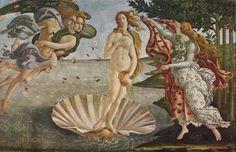 'Geburt der Venus' von Sandro Botticelli als Leinwandbild bei Kunstbilder-Galerie.de kaufen