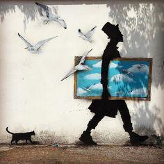 3d Street Art, Street Artists, Congratulations To You, Urbane Kunst, Psy Art, Land Art, Spray Painting, Urban Art, Graffiti