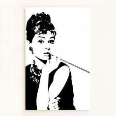Audrey hepburn painting canvas big - Google-søk