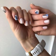 After reading so many nail art recommendations in the spring, have you found your favorite nail style? Come share my favorite romantic spring short nails today. Short Nail Manicure, Diy Nails, Manicures, Cute Nails, Pretty Nails, Gel Nail, Glitter Nails, Short Nails Art, Long Nails