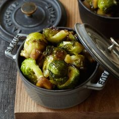 Maple-Roasted Brussels Sprouts | This unbelievably simple side dish counters the slight bitterness of brussels sprouts with a sweet maple-syrup pan sauce.