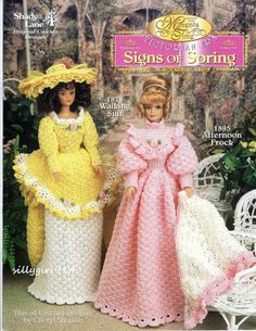 SIGNS OF SPRING~Crochet PATTERN BOOK for BARBIE FASHION DOLL~SEE PICS~Shady Lane