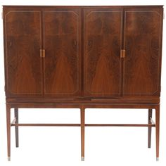 Stunning Rosewood Copper and Pewter Highboy by Georg Kofoed | From a unique collection of antique and modern commodes and chests of drawers at https://www.1stdibs.com/furniture/storage-case-pieces/commodes-chests-of-drawers/