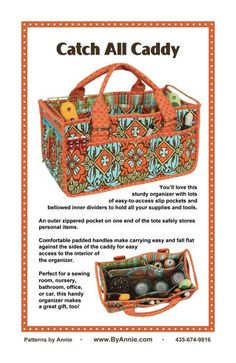Patterns and supplies for quilters and fabric lovers: Shop | Category: Patterns by Annie | Product: Catch All Caddy
