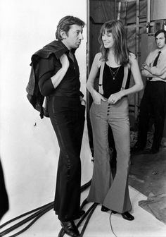 Serge and Jane, 1970s. Would die for her suspenders.