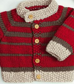 Grobstrick – A mix of mid-century modern bohemian and industrial interior style. Baby Cardigan Knitting Pattern Free, Baby Boy Knitting Patterns, Knitting For Kids, Knitting Designs, Baby Patterns, Knit Patterns, Baby Boy Sweater, Knit Baby Sweaters, Knitted Baby Clothes