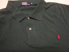 RALPH LAUREN POLO Mens Golf Shirt 2XL 2X BIG XXL S/S Mans Green Christmas Xmas #ralphlauren #polo