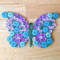 Follow along with us as we create a super fun butterfly and ladybug out of BUTTONS!