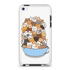Because Cats on Bowl iPod Touch 4 Case