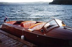 """1939 Shepherd Utility """"Jo Leigh"""" built by Loyd Shepherd himself and restored by Curtis Hillman to pristine condition for current owner Peter Moore. Winner of """"Best Shepherd Award"""" at 2016 Clayton ABM Vintage Boat Show. Classic Wooden Boats, Vintage Boats, Chris Craft, Wood Boats, Power Boats, Yachts, Boating, Dolphins, Restoration"""