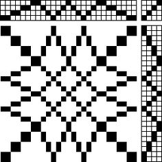 Block Design - Overshot on 4 shaft, tutorial on designing overshot, and second page gives instructions on the weaving order