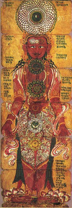 """The Chakras -Chakra means """"wheel"""" in Sanskrit and the chakras are the centers where energy can flow into the body."""