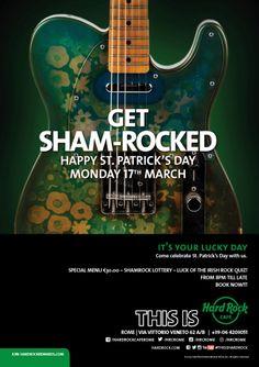 Make #StPatricksDay even better …  Get Sham-Rocked at #HardRock #Rome!  #SanPatrizio #Roma #ThisIsHardRock