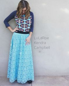 Love the LuLaRoe Lucy skirt! Paired here with a Randy tee. :)