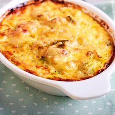 Gratin de pâtes aux lardons, mozzarella et parmesan