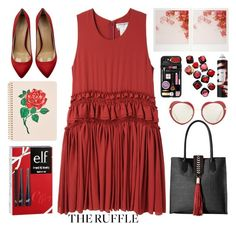 """""""the ruffle"""" by emcf3548 ❤ liked on Polyvore featuring Badgley Mischka, Charles Anastase, ban.do, R+Co, Miu Miu, Barneys New York, e.l.f., Charlotte Olympia and Casetify"""